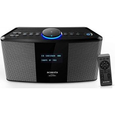 Acoosta Uno ABT-2000PKW/21 High Fidelity Bluetooth Speaker with Built in Music by Sony DADC (Black)