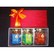 3 hexagon Glass Bottles Gift Box