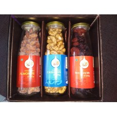 3 Tall Glass Bottles Gift Box