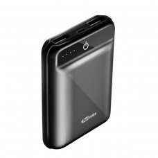 Portronics - Mino 10050mAh Power Bank With One Input Socket and Two Output Sockets