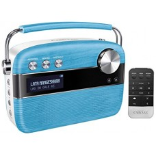 SAREGAMA - Carvaan Digital Audio Player With Remote (Electric Blue)